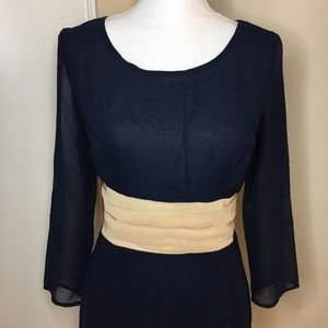 ALYTHEA Navy Blue Flow-y Formal Dress